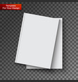 blank book cover on transparent background vector image vector image