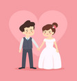 bride and groom wedding couple invitation vector image