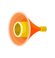 bright yellow-orange megaphone isolated on white vector image vector image