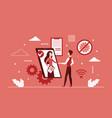 business partnership handshake through phone vector image