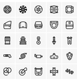 Car parts icons vector image vector image