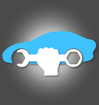 Car repair symbol vector image vector image