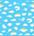 cartoon chinese clouds concept seamless pattern vector image vector image