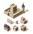 castles isometric medieval historical cartoon vector image vector image