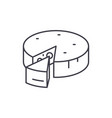 cheese line icon concept cheese linear vector image vector image
