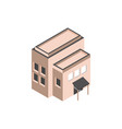 commercial building structure isometric style vector image
