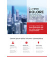 corporate brochure flyer template vector image