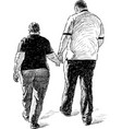 couple on walk vector image vector image