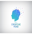 creative mind logo head silhouette with vector image vector image