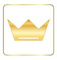 Croun gold icon royal white