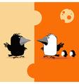 crow smile vector image vector image