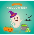 Cute ghost making potion vector image vector image