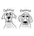 Dog faces emotions optimism pessimism