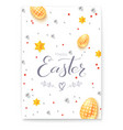 easter decorative poster with handwritten vector image