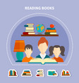 educational reading composition vector image vector image