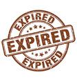Expired brown grunge round vintage rubber stamp