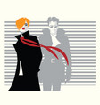 fashion woman and man in style pop art vector image vector image