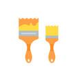 flat a brush vector image