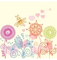 floral garden and bee vector image