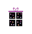 gift box icon with heart vector image