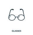 glasses icon line style icon design ui vector image