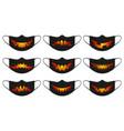 halloween pumpkin mask face protection masks vector image