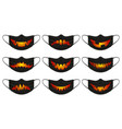 halloween pumpkin mask face protection masks with vector image