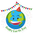 happy earth day flag concept vector image