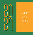 happy new year 2021 greeting card with text vector image