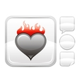 Happy Valentines day romance love Burning heart vector image vector image