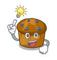 have an idea mufin blueberry mascot cartoon vector image vector image