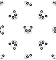 head of panda pattern seamless black vector image vector image