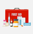 home first aid kit vector image vector image