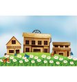 Houses at the hillside vector image vector image