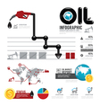 Infographic oil business of the world with icons vector image vector image