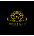iw letter initial luxurious brand logo template vector image vector image