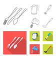kitchen and cook logo set vector image vector image