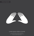 massage premium icon white on dark background vector image vector image