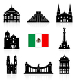 Mexico Travel Landmarks vector image vector image