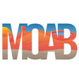 moab scene vector image