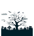 monochrome halloween background vector image vector image