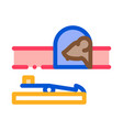 mousetrap icon outline vector image