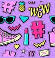 neon pop background 80s 90s vector image
