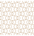 Pattern of Stylized Copper Wire Wedding Rings vector image