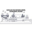 poland - castle of the teutonic order in malbork vector image