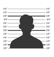 Police Lineup with Man Silhouette vector image