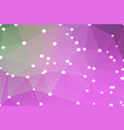 purple green pink geometric background with lights vector image vector image