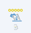 rating vote icon vector image vector image