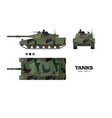 realistic tank blueprint armored car vector image