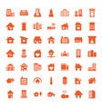 residential icons vector image vector image